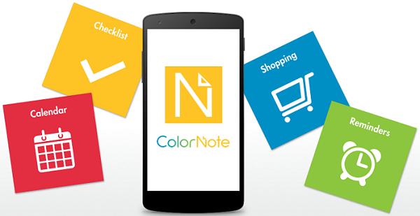 ColorNote app